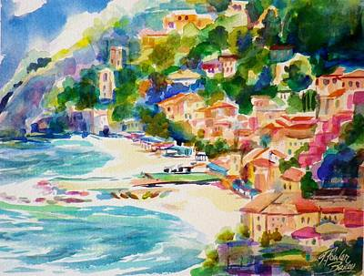 Painting - View From Above At Montorossa Italy by Therese Fowler-Bailey