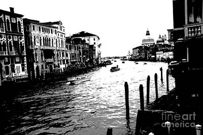 View From Accademia Bridge Art Print by Jacqueline M Lewis