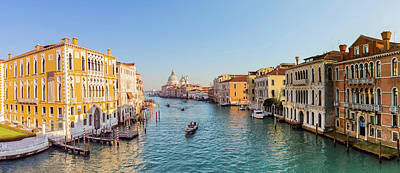 View From Accademia Bridge On Grand Art Print by Dietermeyrl
