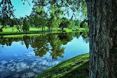 Tranquil Pond Photograph - View From Accross The Lake by Tom Mc Nemar
