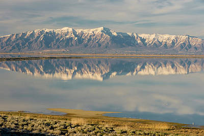View From Antelope Island Causeway Art Print by Howie Garber