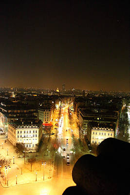 Photograph - View From Arc De Triomphe - Paris France - 011310 by DC Photographer