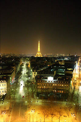 Neoclassical Photograph - View From Arc De Triomphe - Paris France - 011314 by DC Photographer