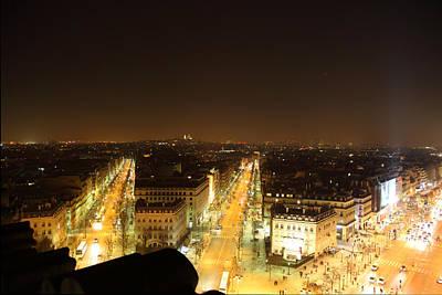 View From Arc De Triomphe - Paris France - 011315 Print by DC Photographer