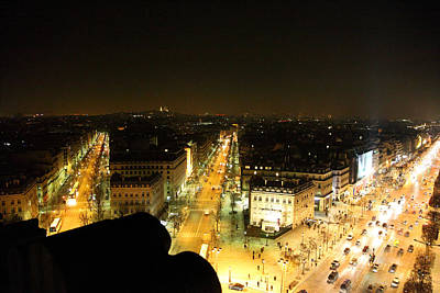 View From Arc De Triomphe - Paris France - 011317 Art Print