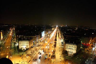 View From Arc De Triomphe - Paris France - 011319 Art Print