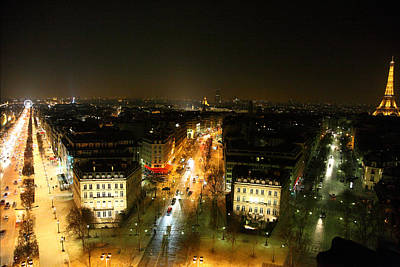 Roman Photograph - View From Arc De Triomphe - Paris France - 011320 by DC Photographer