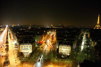 Culture Photograph - View From Arc De Triomphe - Paris France - 011321 by DC Photographer