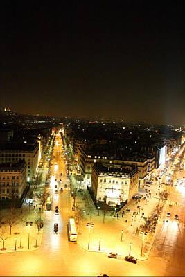 View From Arc De Triomphe - Paris France - 01134 Art Print
