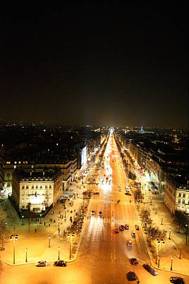 Ile Photograph - View From Arc De Triomphe - Paris France - 01135 by DC Photographer