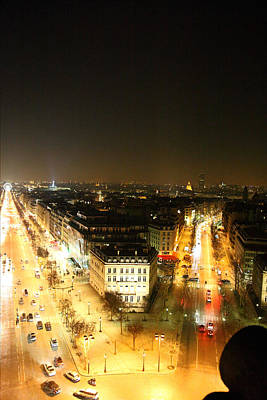 Road Photograph - View From Arc De Triomphe - Paris France - 01137 by DC Photographer