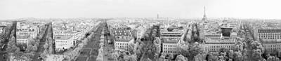 Paris Skyline Photos - View from Arch de Triomph by Chevy Fleet