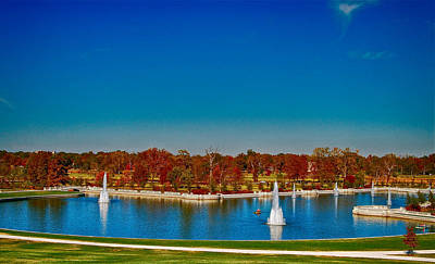 Autumn Peggy Franz Photograph - View From Art Hill Forest Park Missouri by Peggy Franz