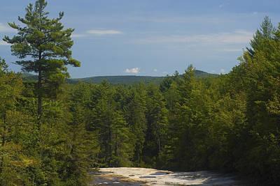 Photograph - View From Atop Bridal Veil Falls North Carolina by Charles Beeler