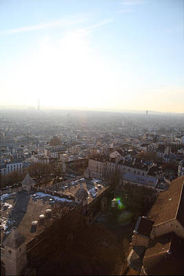 View From Basilica Of The Sacred Heart Of Paris - Sacre Coeur - Paris France - 011314 Art Print by DC Photographer