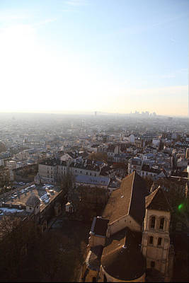 View From Basilica Of The Sacred Heart Of Paris - Sacre Coeur - Paris France - 011316 Art Print