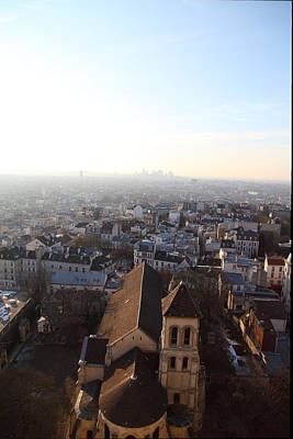 View From Basilica Of The Sacred Heart Of Paris - Sacre Coeur - Paris France - 011318 Art Print by DC Photographer