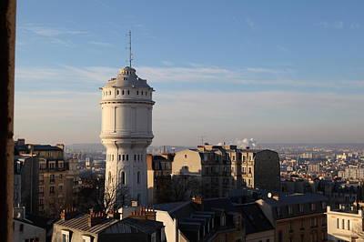 View From Basilica Of The Sacred Heart Of Paris - Sacre Coeur - Paris France - 01132 Art Print