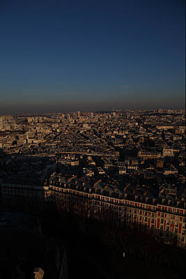 View From Basilica Of The Sacred Heart Of Paris - Sacre Coeur - Paris France - 011327 Print by DC Photographer