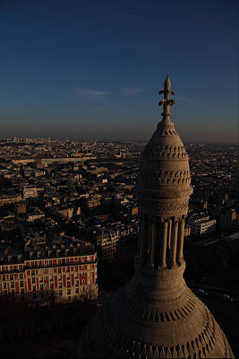 View From Basilica Of The Sacred Heart Of Paris - Sacre Coeur - Paris France - 011331 Print by DC Photographer