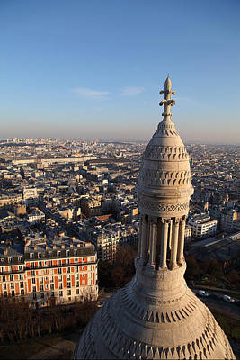 View From Basilica Of The Sacred Heart Of Paris - Sacre Coeur - Paris France - 011332 Art Print by DC Photographer