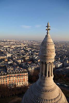 View From Basilica Of The Sacred Heart Of Paris - Sacre Coeur - Paris France - 011332 Art Print