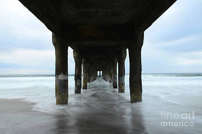Photograph - View From Below Manhattan Beach Pier by Bob Christopher