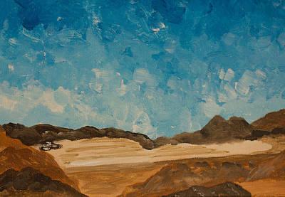 Salt Flats Painting - View From Black Rock Canyon by Carolina Liechtenstein