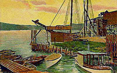 View From Boat Club In Middletown Ct Around 1910 Art Print