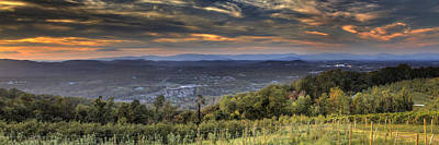 Charlottesville Photograph - View From Carters Mountain by Tim Wilson
