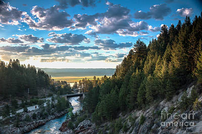 Photograph - View From Cascade Dam Of The North Fork Of The Payette River by Robert Bales