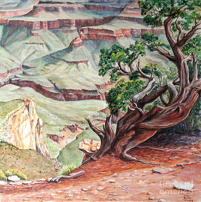 Painting - View From Cedar Ridge Trail by Art By - Ti   Tolpo Bader
