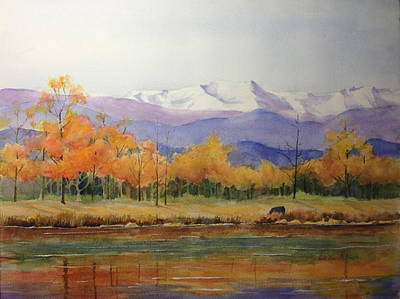 Painting - View From Dave's Backyard Near Boulder Colorado by Cynthia Roudebush