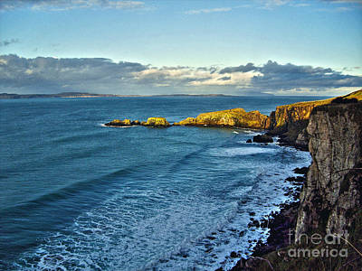 Photograph - Irish Coast, View From Dunluce Castle by Nina Ficur Feenan