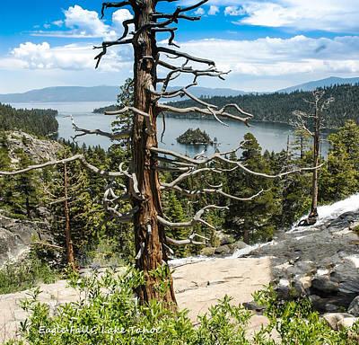 Happy Photograph - View From Eagle Falls Of Emerald Bay Lake Tahoe by LeeAnn McLaneGoetz McLaneGoetzStudioLLCcom