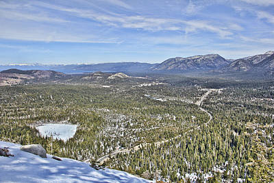 View From Echo Summit Art Print by Philip Tolok