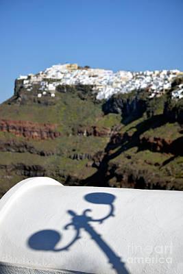 Cliff Photograph - View From Firostefani In Santorini Island by George Atsametakis