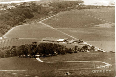View From Fish Ranch  Palo Corona Ranch Carmel California By Pat Hathaway 1976 Art Print