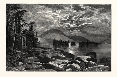 View From Fourteen-mile Island Art Print by American School