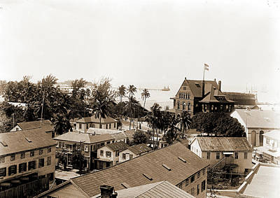 Key West Drawing - View From Hotel, Key West, Fla, Harbors, United States by Litz Collection