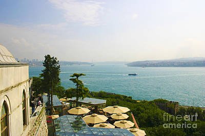 View From Konyali Restaurant To Bosphorus Bridge Connecting Europe And Asia Istanbul Turkey Art Print by PIXELS  XPOSED Ralph A Ledergerber Photography