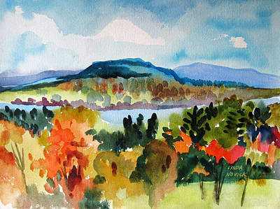 Painting - View From Kripalu In Fall by Linda Novick