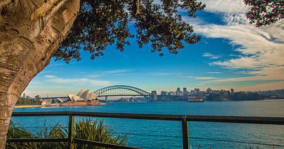 View From Lady Macquarie's Chair Art Print by Dasmin Niriella