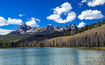 View From Little Redfish Lake Art Print by Robert Bales