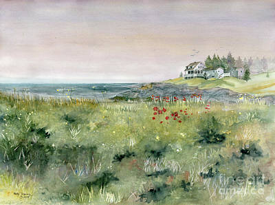 Painting - View From Lobster Cove by Melly Terpening