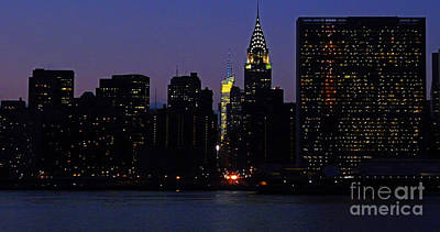 Photograph - View From Long Island City To The United Nations And Chrysler Building by Kendall Eutemey