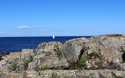 Photograph - View From Marginal Way Ogunquit Maine 3 by Michael Saunders