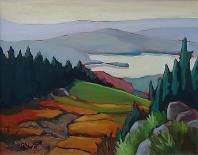 Wall Art - Painting - View From Mont Tremblant by Edward Abela