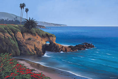 Painting - View From Montage Resort In Laguna Beach by Cliff Wassmann