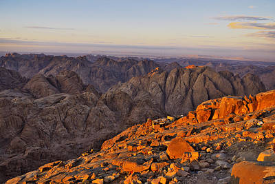 View From Mount Sinai Print by Ivan Slosar